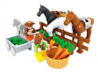 GE154302 Happy farm children educational toys brick  89pcs