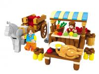 GE154406  Happy farm children educational toys brick  147pcs