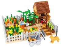 GE154601 Happy farm children educational toys brick  263pcs