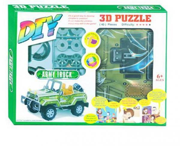 GE155877HF Army jeep 3D puzzle game 40pcs