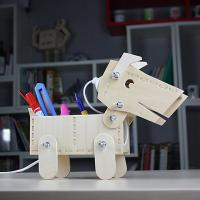 GL1880005 DIY Dog  Wooden Ligh