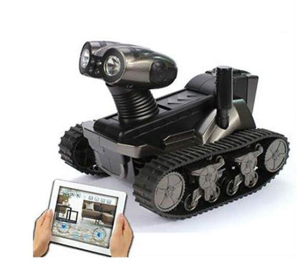 TRT025728 2014 Newest Spy Robot LT-728 Wifi Tank with camera Iphone/Ipad/Android Control Spy Tank